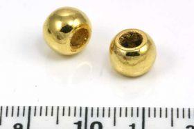 Metalperle med stort hul 4 mm