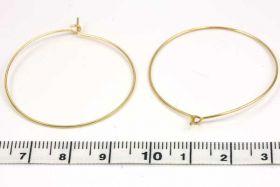 Creoler ørering guld belagt 10 par 35 mm