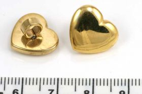 Rustfri stål charm guld hul 4 mm