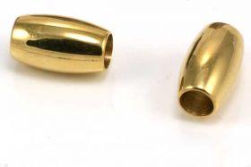 Rustfri stål led guld 4 mm hul