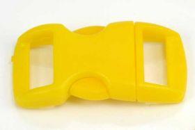 Lås til faldskærmsline gul plastik