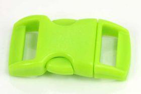 Lås til faldskærmsline neon grøn plastik