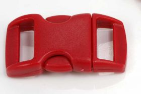 Lås til faldskærmsline rød plastik