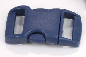 Lås til faldskærmsline marine blå plastik
