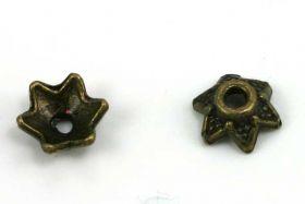 Perlehatte 6x7 mm antik bronce 20 stk