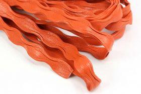 Flad bølget skind Orange 1/2 mtr