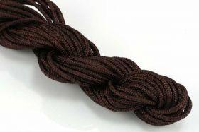 Knyttesnor brun 2,0 m/m Nylon