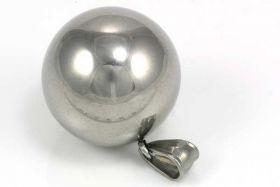 Rustfri stål kugle vedhæng 25 mm