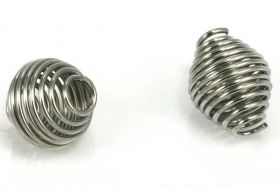 Rustfri stål perle 11x10 mm