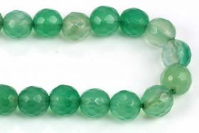 Grøn Onyx facetteret 6 mm