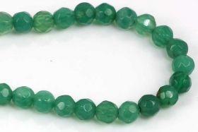 Grøn Onyx facetteret 4 mm