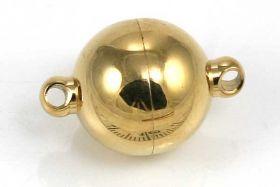 Magnetlås rustfri stål guld farve 10x14 mm