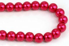 Glasperler 10 mm Pink