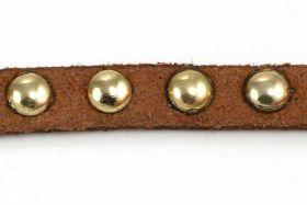 Ruskindsnøre med nitter Brun 6x2,5 mm