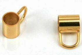 Rustfri stål led med loop 5 mm hul guldfarve