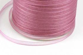 Organza bånd Gammel rosa 6 mm