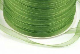 Oliven Grøn Organza bånd 6 mm Hel Rulle