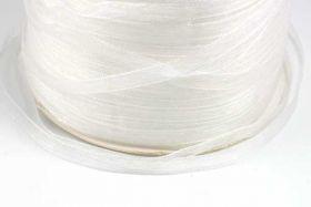 Hvid Organza bånd 6 mm Hel Rulle