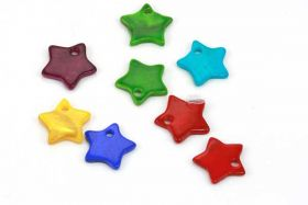 Shell vedhæng Stjerne 12 mm 5 par