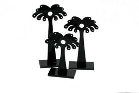Display lille sort palme Sæt med 3 stk.