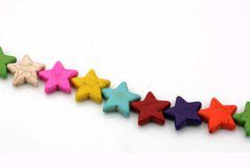 Magnesit multifarvede stjerner 25 mm