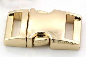 Lås til faldskærmsline aluminium guldfarve Medium