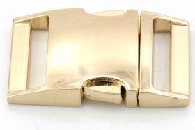 Lås til faldskærmsline aluminium guldfarve Stor