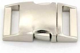 Lås til faldskærmsline aluminium sølvfarve Stor