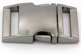 Lås til faldskærmsline aluminium sort Stor
