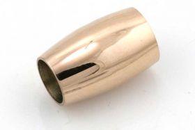 Rustfri stål lås Rose Guld 6 mm hul