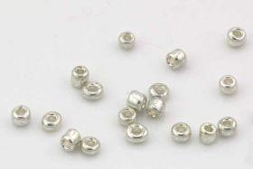 Seed beads Sølv 10/0 - 2 mm