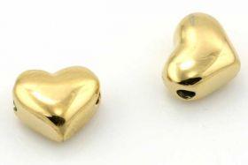 Rustfri stål perle Guld 2 mm hul