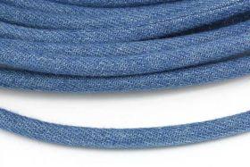 Jeans snøre lys blå 6 mm 1/2 mtr.