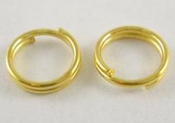 O-ring dobbelt 8,5 mm hul Guld farvet 50 stk