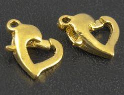 Smykkelås guld farvet 10 stk.
