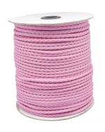 Imiteret lædersnøre 3 mm lyserød