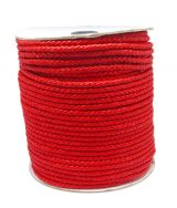 Imiteret lædersnøre 3 mm rød