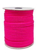 Imiteret lædersnøre Hot pink 3 mm