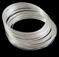 Memorywire til armbånd rustfri stål sølvbelagt