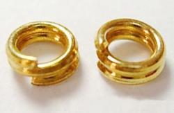 O-ring dobbelt 6,2 mm hul Guld farvet 50 stk