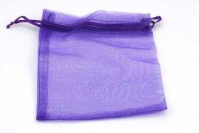 Organza pose lavendel ca.13 x 16 cm