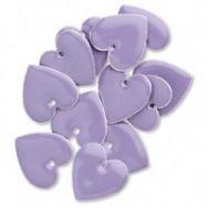 Vedhæng 16 mm hjerte lavendel 12 stk