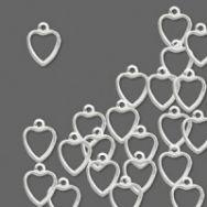 Vedhæng hjerte sølv belagt