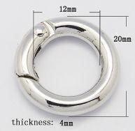 Smykkelås click on 20 mm sølvfarve