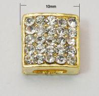 Slide perler guld farve 5 stk