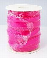Gummisnøre flad pink transparent