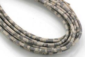 Kork snor 2,5 mm rund Lys/Zebra 0,5 mtr