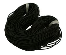 Gummisnøre sort 3 mm