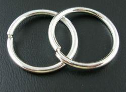 O-ring 16,6 mm hul sølvbelagt 10 stk