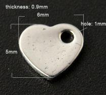 Rustfri stål vedhæng hjerte nr.3